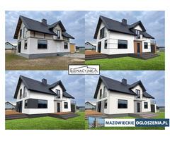 Pomysł na projekt elewacji domu / Elewacje domów / wizualizacje 3D
